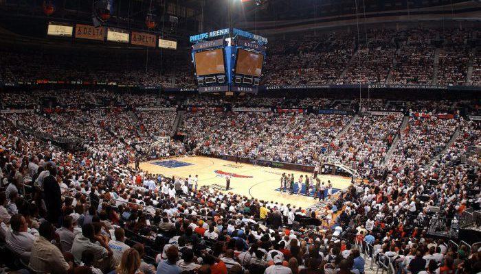 Atlanta Hawks game crowd