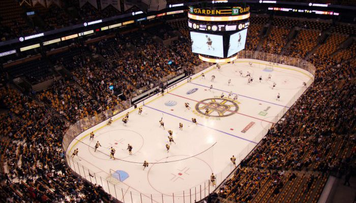 Boston Bruins game crowd