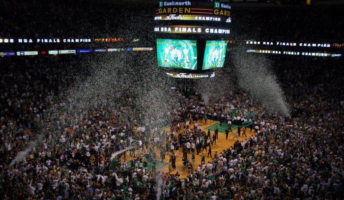 Boston Celtics Confetti postgame