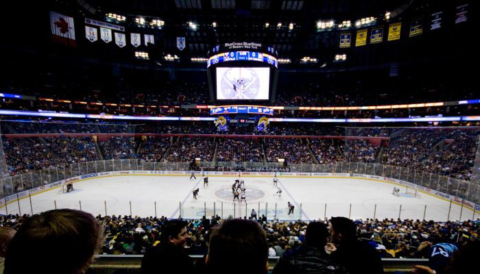 KeyBank Center Buffalo Sabres vs Pittsburgh Penguins game