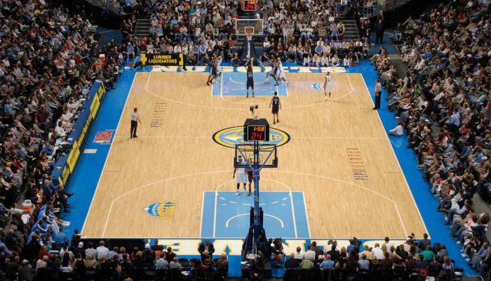 Denver Nuggets vs Memphis Grizzlies game at Pepsi Center