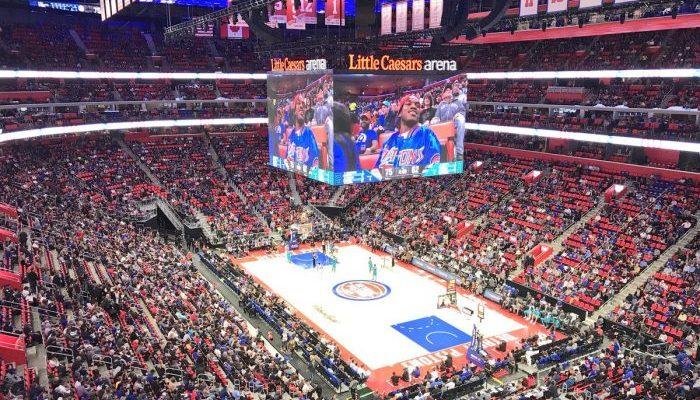 Detroit Pistons basketball Little Caesars Arena