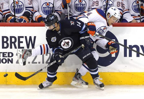 Winnipeg Jets vs Edmonton Oilers game