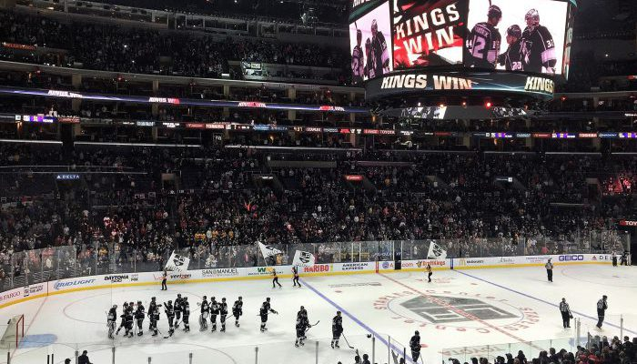 Los Angeles Kings celebrate victory