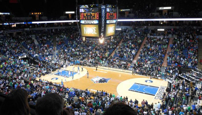 Minnesota Timberwolves basketball game