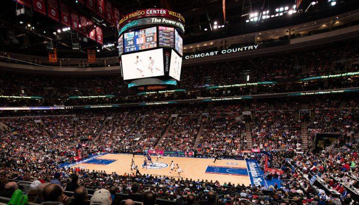 Philadelphia Seventy Sixers crowd
