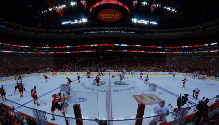 Philadelphia Flyers vs Detroit Red Wings game