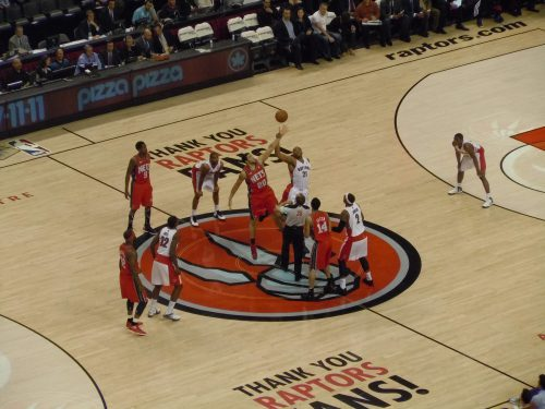 Toronto Raptors vs New Jersey Nets game