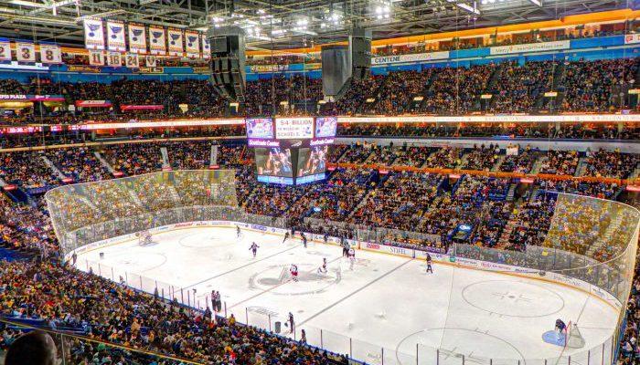 St Louis Blues banners stadium