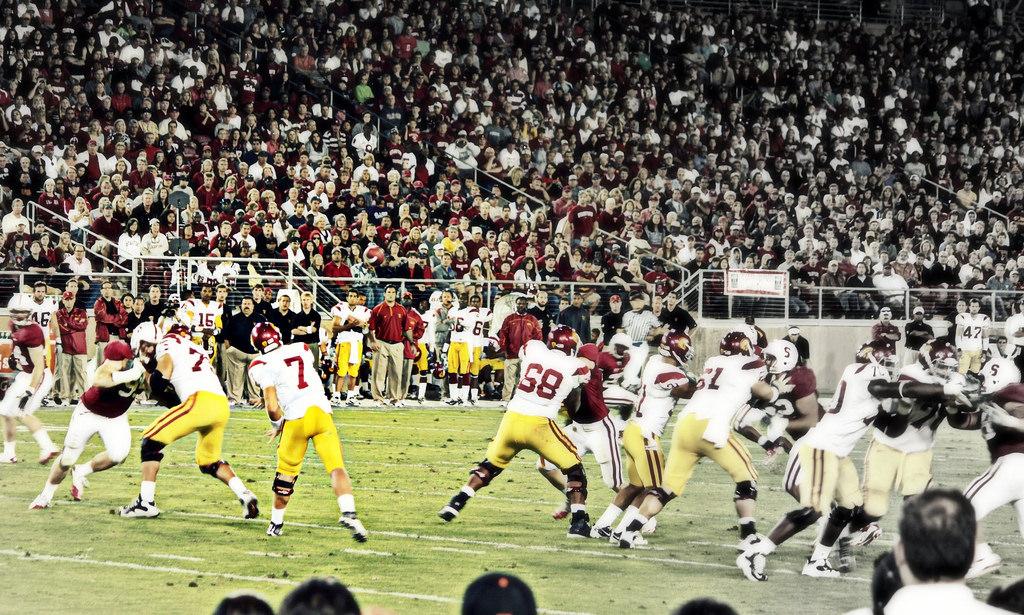 USC Trojans vs Stanford football game