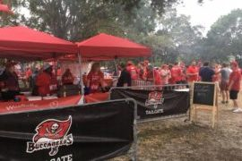 Tampa Bay Buccaneers fans at What the Buc Tailgate