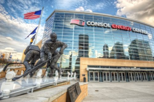 Consol Energy Center statues