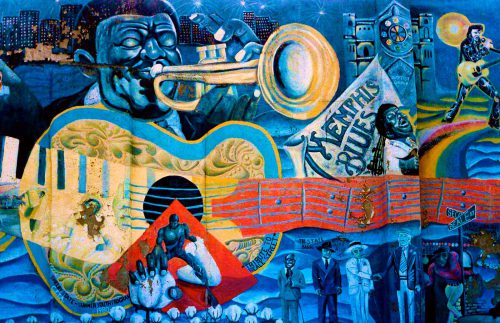 Memphis Grizzlies mural