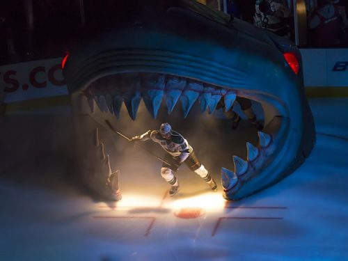 San Jose Sharks player entrance