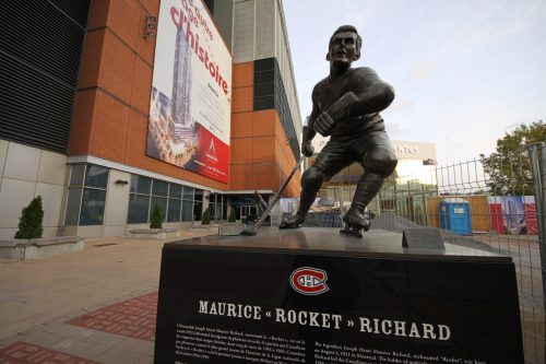 Rocket Richard statue The Bell Centre