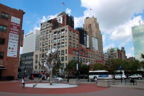 Championship Plaza statue New Jersey Devils
