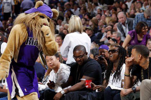Sacramento Kings mascot Slamson