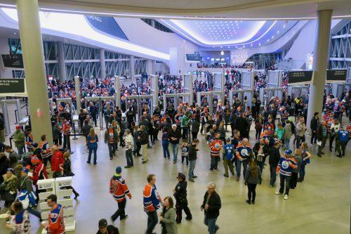 Edmonton Oilers fans at Rogers Place