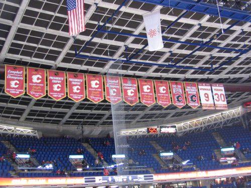 Calgary Flames banners