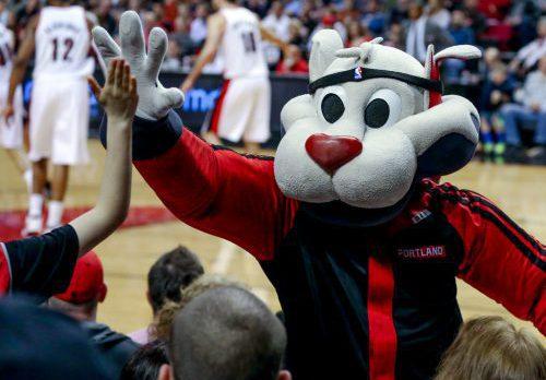Blaze Portland Trail Blazers mascot
