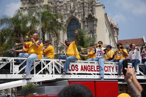 Los Angeles Lakers band parade