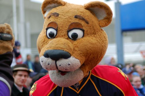 Stanley C Panther mascot of Florida Panthers
