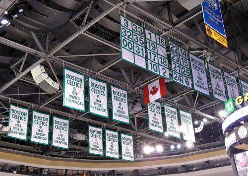 Boston Celtics banners TD Garden