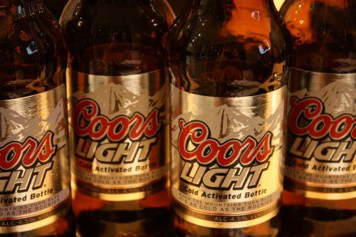 Coors Light beer bottle