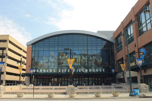 Bankers Life Fieldhouse exterior outside
