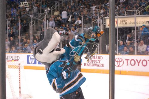 Sharkie mascot of San Jose Sharks