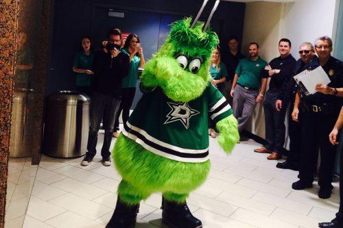 Victor Green mascot of Dallas Stars