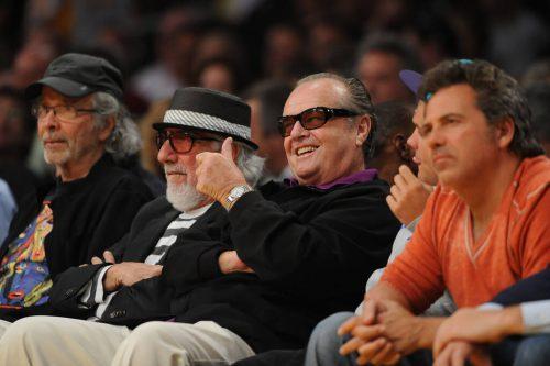 Celebrities watching Los Angeles Lakers game