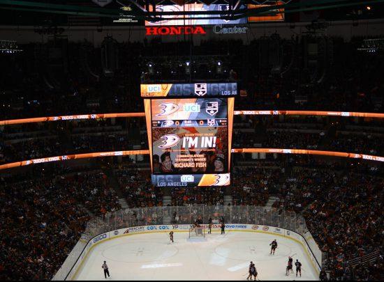 Anaheim Ducks vs LA Kings hockey game