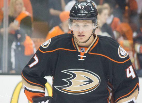 Anaheim Ducks player Hampus Lindholm