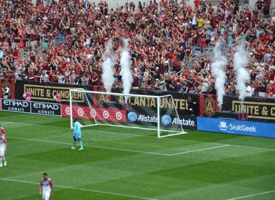 Atlanta United Fans Cheering