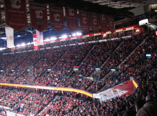 Calgary Flames banners fans