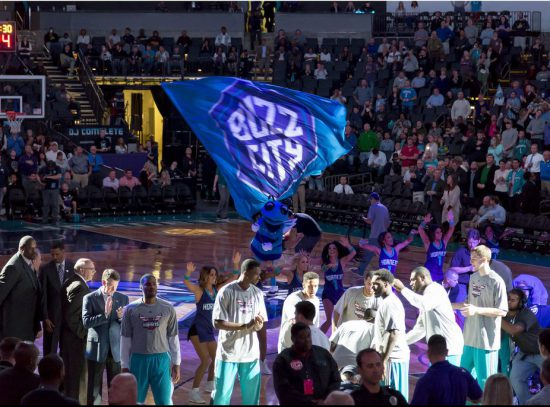 Charlotte Hornets players show entertainment