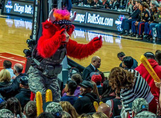 Chicago Bulls mascot Benny the Bull