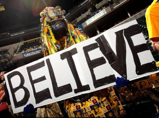 Indiana Pacers fan support Believe