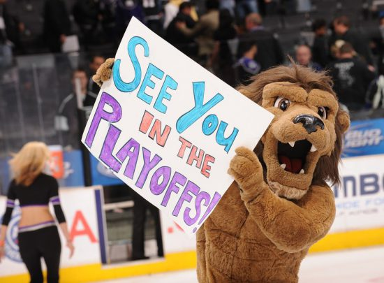See you in the Playoffs by Los Angeles Kings mascot Bailey