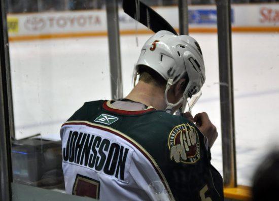 Minnesota Wild hockey player Kim Johnsson