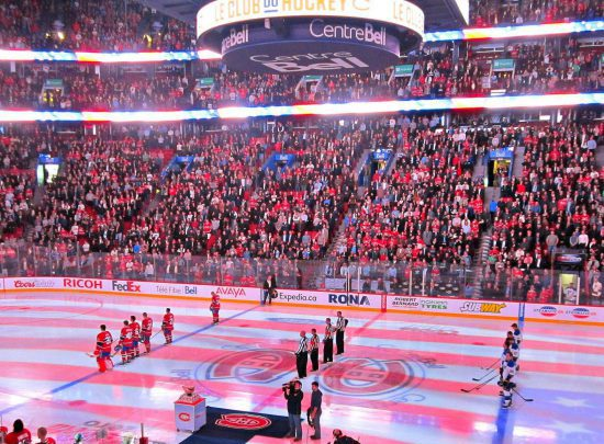 National Anthem Montreal Canadiens game