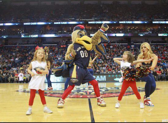 New Orleans Pelicans mascot Pierre the Pelican