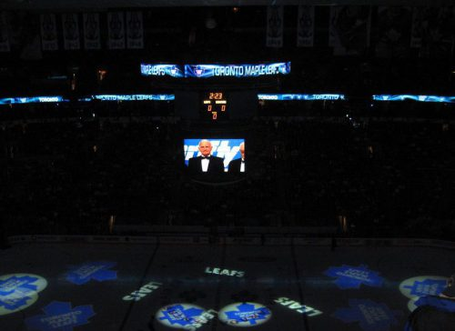 Ice Projection Toronto Maple Leafs