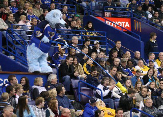 Louie St Louis Blues fans