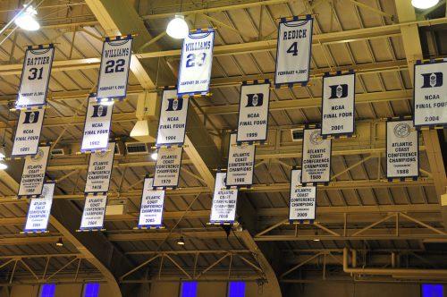 Cameron Indoor Stadium banners