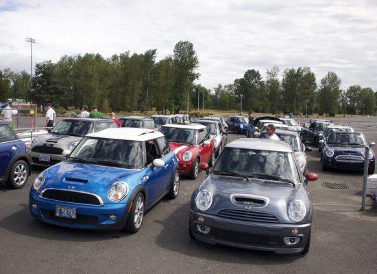 Portland International Raceway mini Cooper
