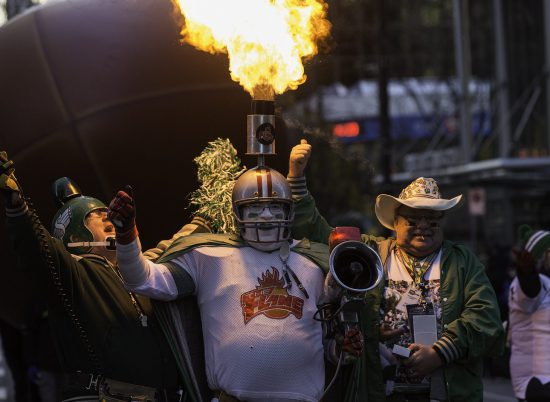 Saskatchewan Roughriders Fans Tailgating