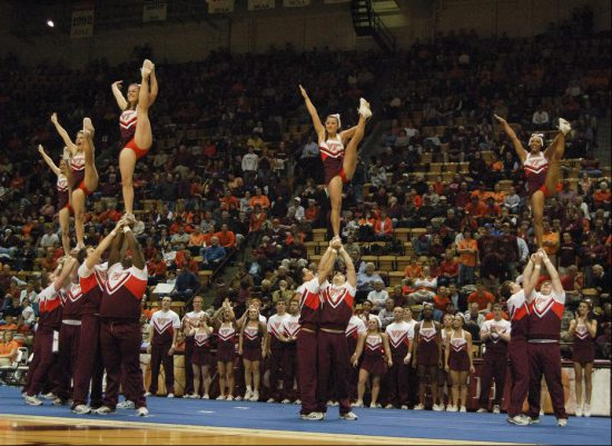 Virginia Tech basketball cheerleaders