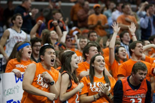 Virginia Cavaliers basketball fans